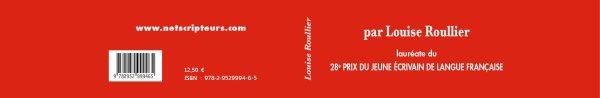 Louise Roullier lauréate du prix des jeunes écrivains de langue française