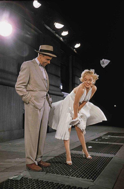 Marilyn,dans 7 ans de réflexion.