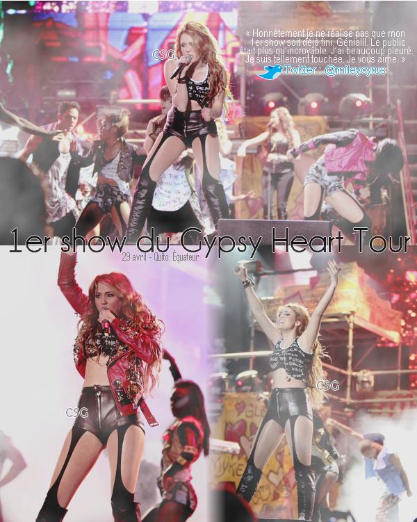 + Commencement du Gypsy Heart Tour pour Miley!
