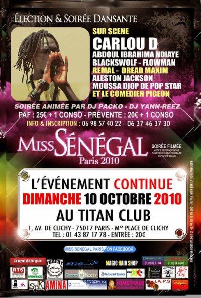 FLOWMAN EN SHOW LE 09 OCTOBE A MISS SENEGAL 2010