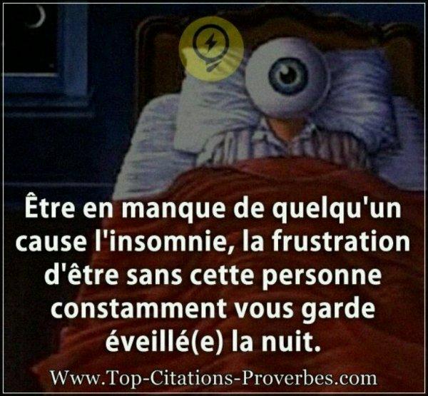 Le sommeil des yeux n'est qu'un demi sommeil, si l'on n'a pas le sommeil du c½ur.