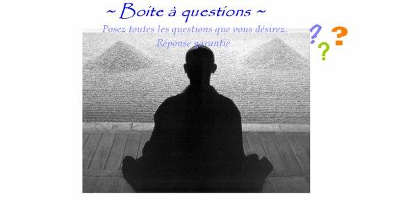 La boîte à questions // Bodpa //