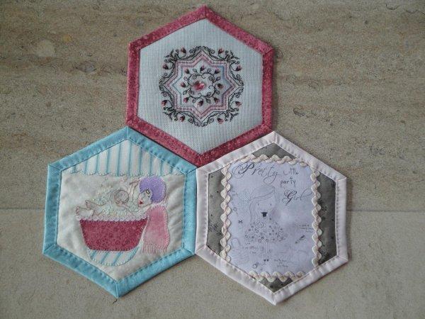 Bee quilt hexagone 1, 2 et 3