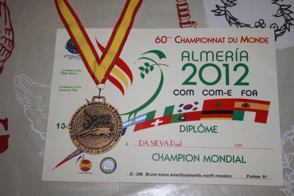 Championnat du Monde  Alméria 2012