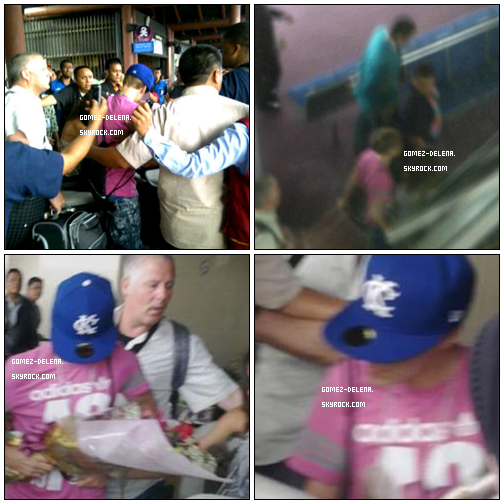 . . 22 Avril - Justin et Selena a l'aéroport , Puis d'autre photo ou ils sont tout les deux ! ^^ . .