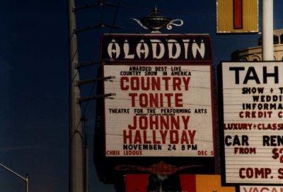 Affiche du concert de Johnny à Las-Vegas en 1996