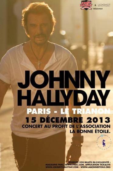 #Johnny en concert au Trianon dimanche 15 décembre pour la Bonne étoile!
