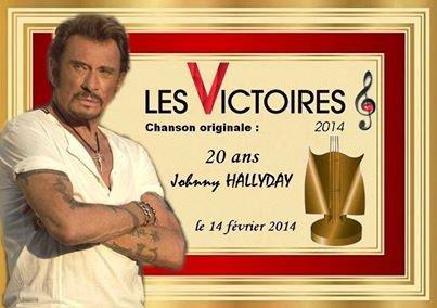 Victoires de la Musique 2014 : Johnny Hallyday a encore 20 ans, Laeticia en joie