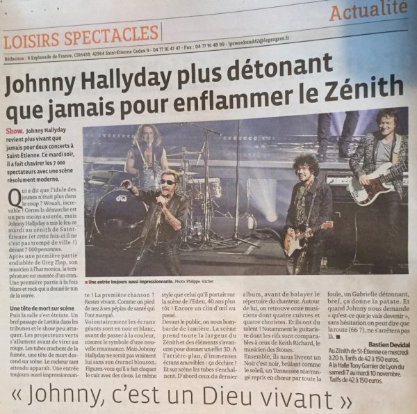 Johnny à St Etienne