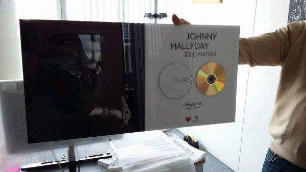 Le disque d'or de Johnny Hallyday vient de partir pour 120.000 ¤ ! Merci au généreux donateur