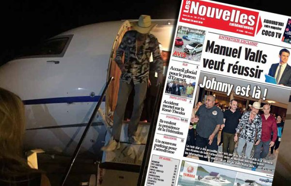 Arrivée tonitruante de Johnny Hallyday à Nouméa