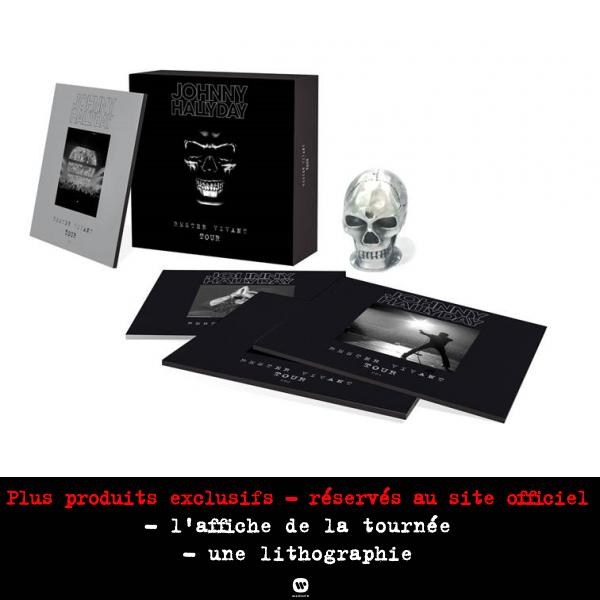 Edition ultra-limitée : 3 CDs + DVD + la reproduction de la tête de mort de la tournée, inclus un titre inédit + l'affiche de la tournée + une lithographie