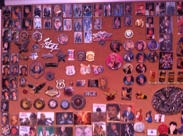 Pins et badge de johnny hallyday