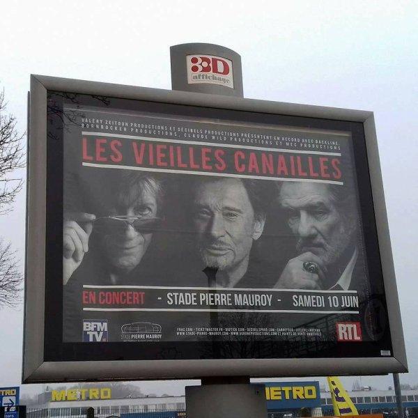 """"""" Les Vieilles Canailles """" s'affichent à Lille"""