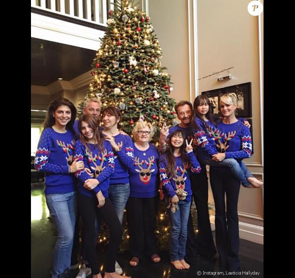 Les Hallyday ont célébré Noël dans leur maison de Los Angeles, décembre 2016