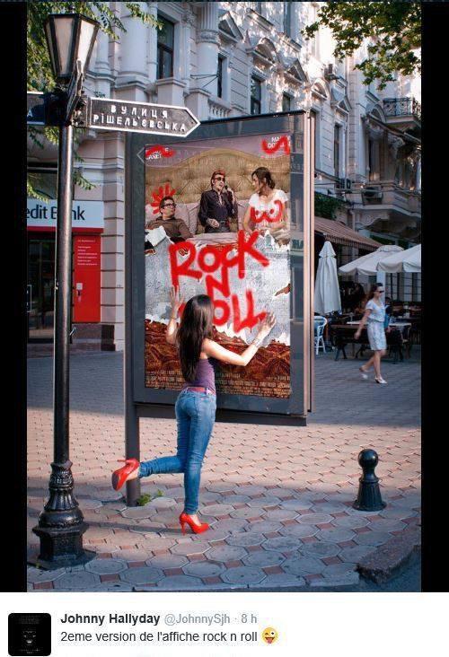 """Johnny à l'affiche du film """"Rock'n roll"""" Sortie le 15 fevrier 2017"""