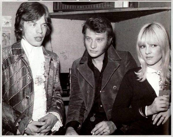 Johnny, Mick Jagger et Sylvie Vartan