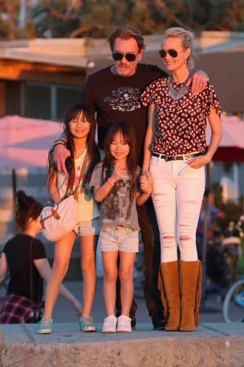 Johnny laeticia et les filles