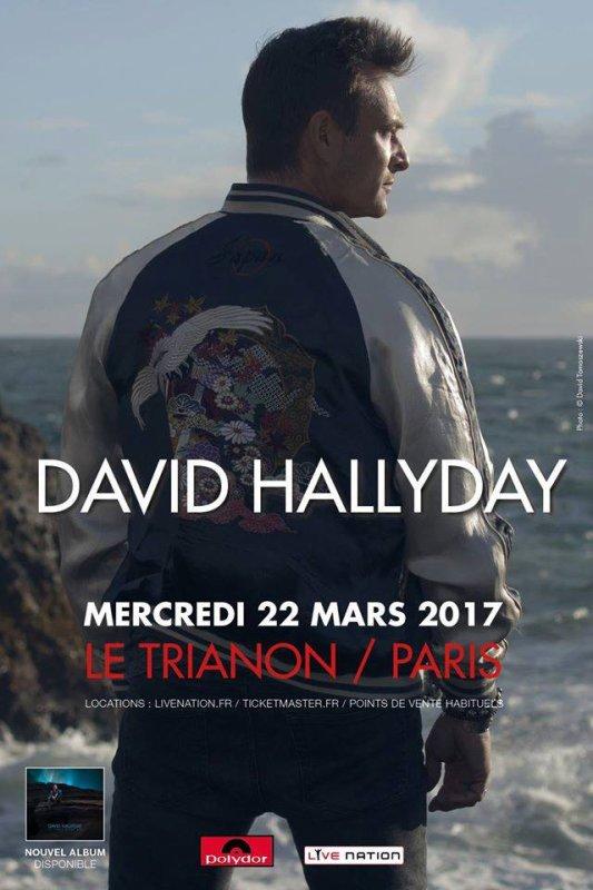 Dans un mois exactement, le 22 mars, David sera sur la scène du Trianon...