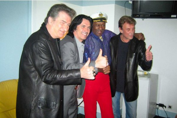 Johnny Hallyday pleure son idole Chuck Berry