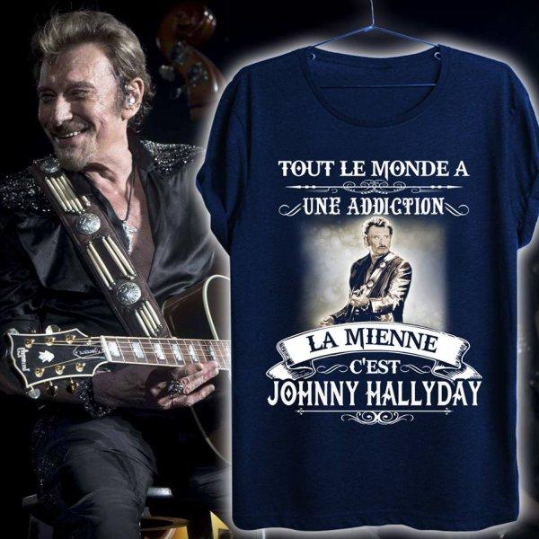 Le nouveau t-shirt pour fans de Johnny Hallyday!!!
