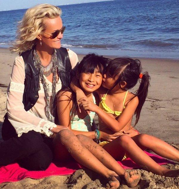 Laeticia et les filles