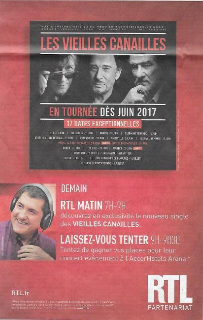 """Demain, sur RTL Matin, entre 07h et 09h, découvrez en exclusivité le nouveau single des """"Vieilles Canailles""""."""