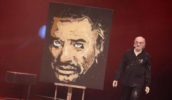 Vente exceptionnelle le 1er mai sur EBAY d'un portrait de JOHNNY HALLYDAY par Jean-Pierre Blanchard au profit de l'Association Magev - magie caritative.