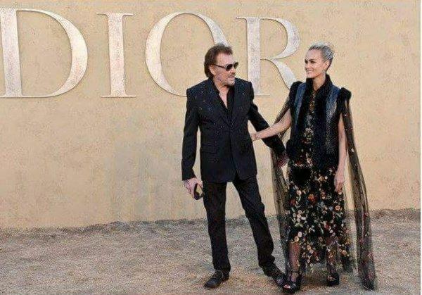 Johnny et Laeticia Hallyday l'élégance et le glamour à la française DiorCruise LA diorsauvage