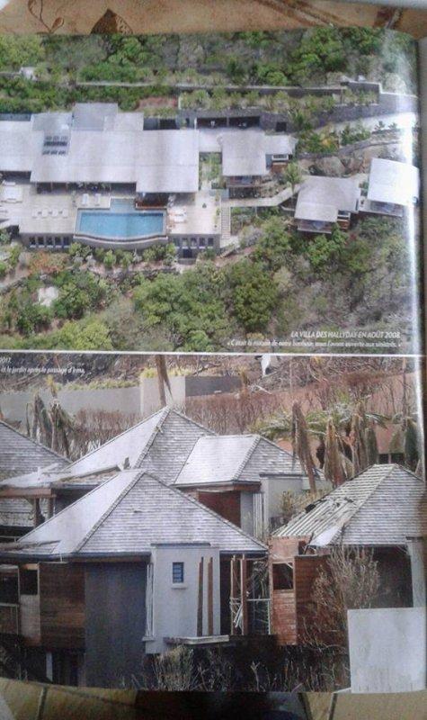 La maison des Hallyday avant et après l,ouragan