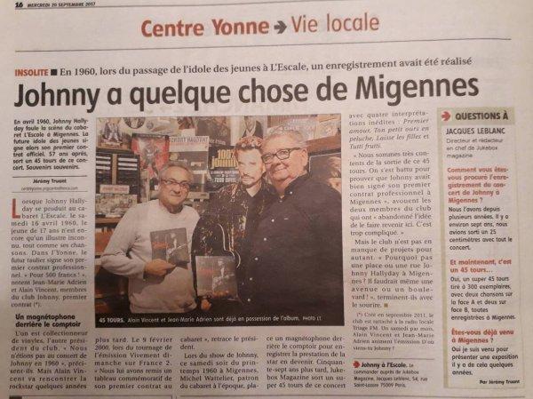 """""""L'Yonne Républicaine"""" du mercredi 20 septembre 2017"""