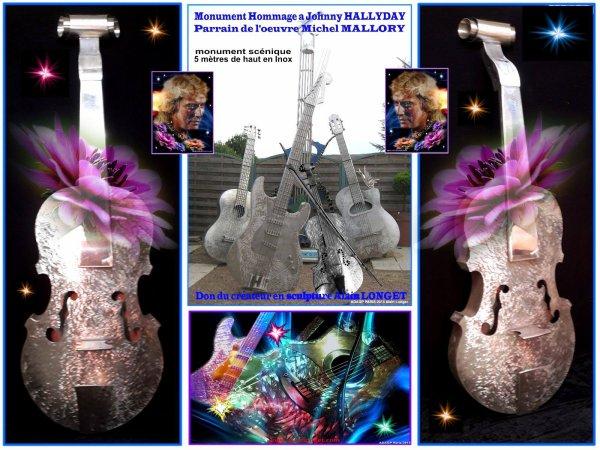Monument Hommage le violon en finition