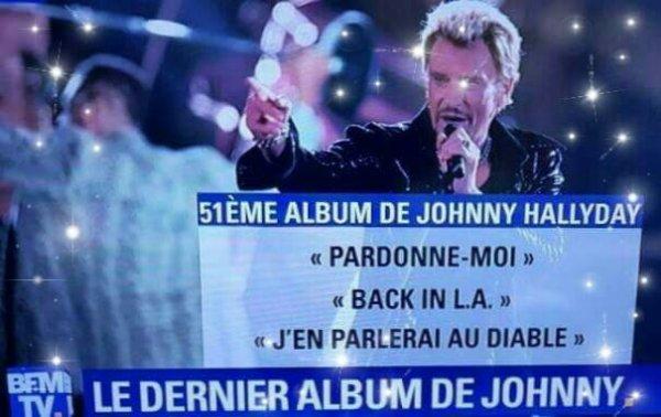 On connaît déjà trois titres du futur album de Johnny