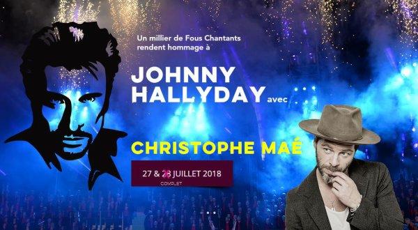 Invitation pour rendre hommage à Johnny Hallyday les 27 et 28 juillet (déjà complet) 2018 à Alès devant près de 7 500 spectateurs.