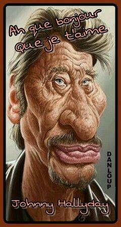 Johnny était l'un des premiers au début des guignols ce qu'il avait mal pris avec la boîte à coucou et quelques jours plus tard il a était invité sur le plateau de C+ et il avait demandé à ce qu'on coupe le nez de la marionnette car elle était trop long. Voilà p'tit souvenir de la caricature mais par la suite il avait beaucoup d'humour nôtre Jojo.