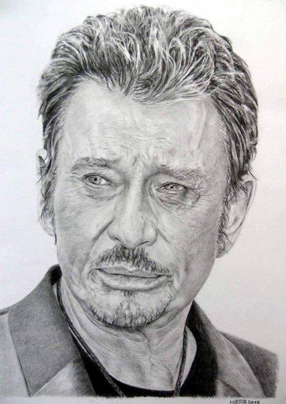Magnifique portrait de Johnny