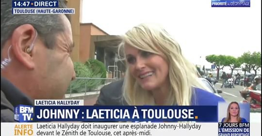 """""""Je suis très heureuse d'être là."""" Escortée par des bikers, Laeticia Hallyday et ses filles vont se rendre au Zénith de Toulouse"""