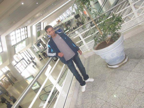c moi en l'aéroport