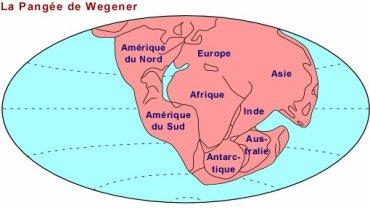 La théorie d'Alfed Wegener.