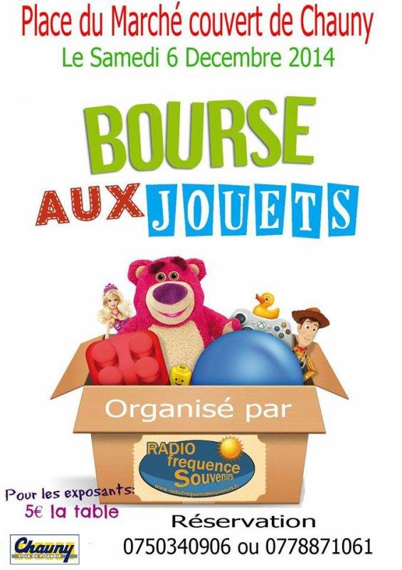 Bourse aux jouets le samedi 6 décembre place du marché couvert à chauny
