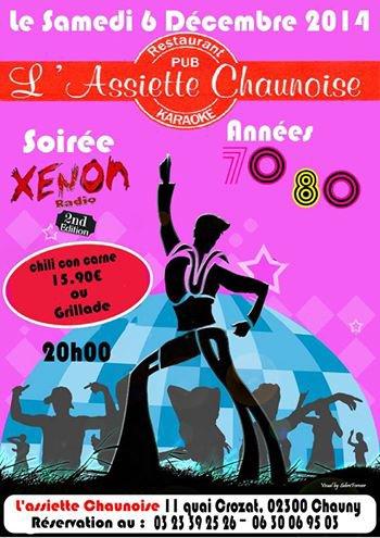 L'Assiette Chaunoise ouvert tout les Vendredi et Samedi à 19h30 11 Quai crozat 02300 Chauny réservation au 03.23.39.25.26 ou au 06.30.06.95.03