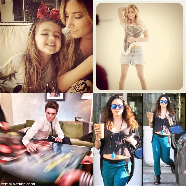 Photo Instagram d'Ash avec Mikayla. Photo d'Ash lors de son shoot pour site officiel en 2011 par Elias Tahan. Photo Instagram de Zac. Résumé Photos de Nessa le 6 Mars dans Studio City.