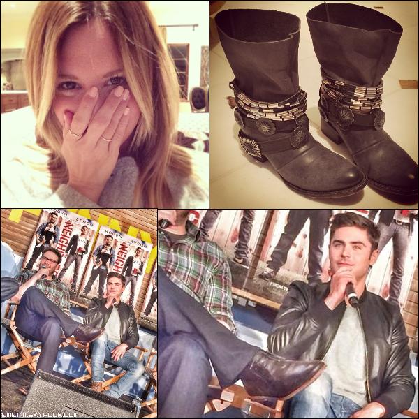 2 Photos Instagram d'Ash. Twitpic de Zac.