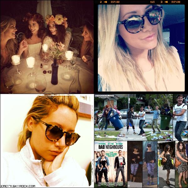 Photo Instagram de Nessa et deux d'Ash. Still et Poster de Neighbors. Résumé Photos de Nessa le 18 Mars dans Studio City et faisant du shopping à Planet Blue dans Beverly Hills.