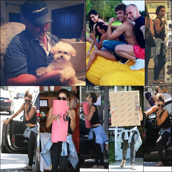 Photo Instagram d'Ash de Maui et Mike. Photo Perso de Zac en vacance en Italie avec ses amis le 28 Juin. Résumé Photos de Nessa le 29 Juin dans Studio City.