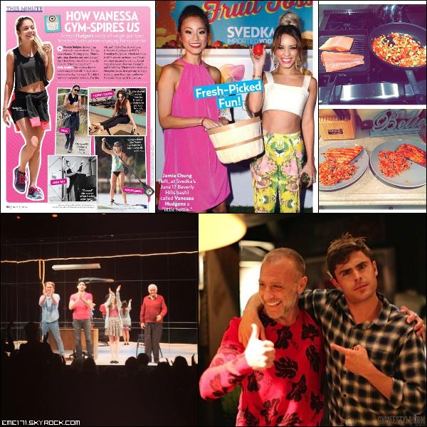 2 Scans de Nessa pour US Weekly du 7 Juillet. 2 Photos Instagram de Nessa. Photo Perso de Zac avec un ami en Italie.