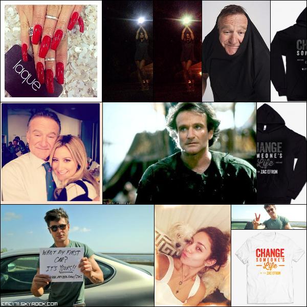 Photos Instagrams de Nessa et Ash. Twitpic de Zac et Nessa. 3 Photos pour la promo de Prizeo & Make-A-Wish de Zac.