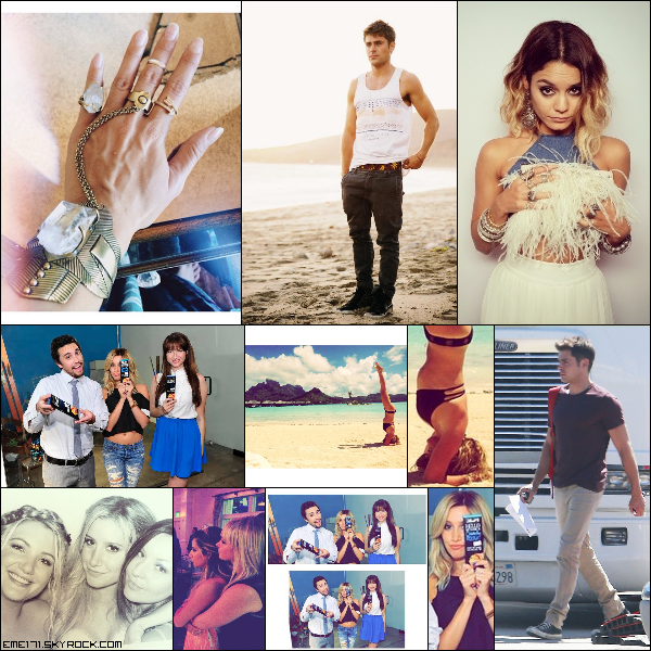 Photo Tumblr de Nessa et Twitpic de Zac. Photo Perso de Nessa. Photo Promo d'Ash pour la marque Lindt. Photo Perso d'Ash avec Sammy et Shelley lors de son mariage. 3 Photos Instagram d'Ash. Résumé Photo de Zac le 18 Septembre à LA.