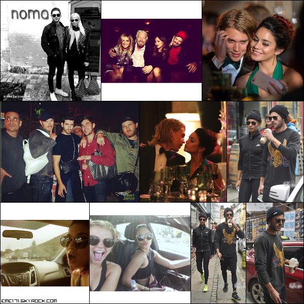 Photo Instagram de Zac et Ash. 2 Photos Persos de Nessa et Austin lors du Gala. Photo Perso de Zac et une de Nessa. Résumé Photos de Zac le 14 Octobre dans les rues de Copenhague..