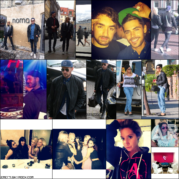 Photos Fans de Zac à Copenhague. Résumé Photos d'Ash le 16 Octobre. 2 Photos Facebook de Nessa et 2 Photos Instagram d'Ash. Photo Rare d'Ash.